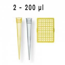 POINTE DE PIPETTE 2-200µl JAUNE NON STERILE BRAND x 1000