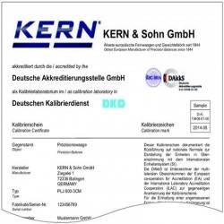 CERTIFICAT DKD POUR POIDS 0.05g E2 KERN